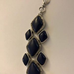 Lucky band silver and blue stones bracelet